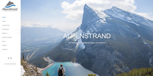 Alpenstrand.de Relaunch und SEO Betreuung
