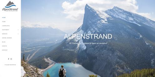 Alpenstrand.de relaunch and SEO support
